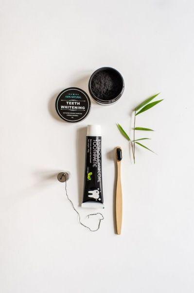Bambus Aktivkohle Zahnpflege - Set