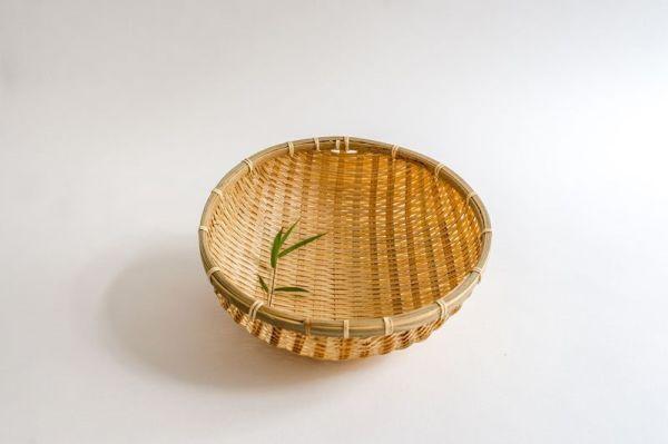 Bambus Reiskörbe, Küchensiebe, Gartenkörbe, 30cm handgefertigt in Vietnam