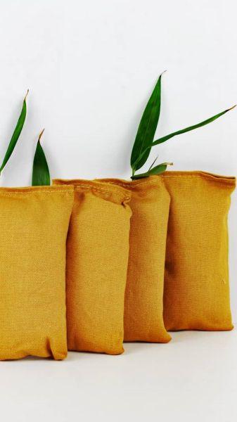 Bambus-Aktivkohle, 4 x 75 g, Luftreiniger Schuhe, Kleiderschrank