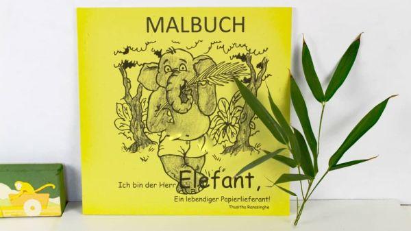 Großes Malbuch zur Elefanten-Dung-Geschichte