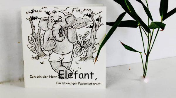 Mini-Malbuch Elecosy aus Elefanten-Dung-Papier