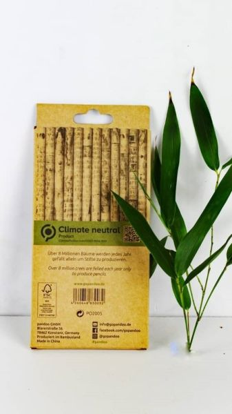 12 Bleistifte Graphit -HB- aus-100% recycelte Zeitschriften