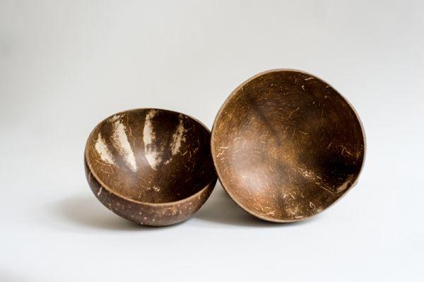Kokosnuss-Schalen, Coconut-Bowl, Müslischalen, Reisegeschirr