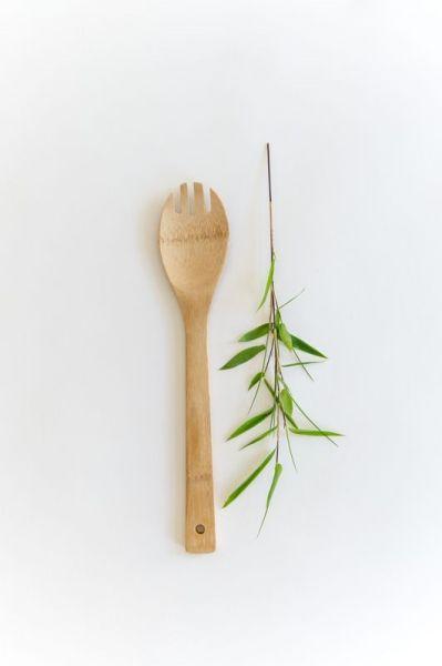 Bambus Küchenhelfer Salatgabel
