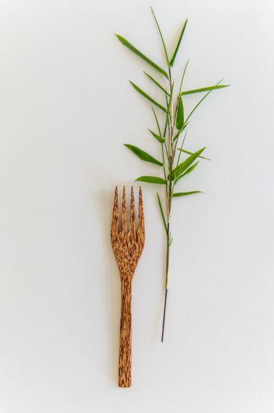 Gabel aus Kokospalmenholz