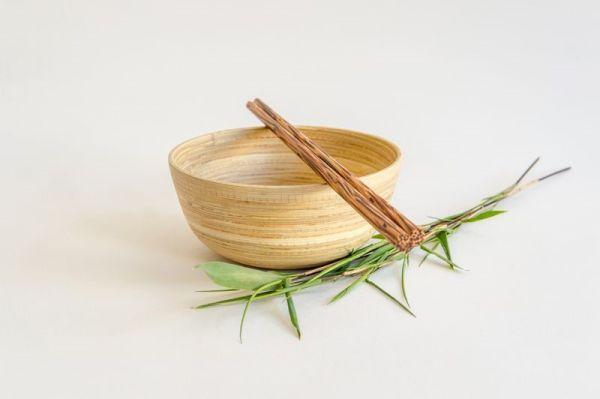 Bambus Reisschüssel