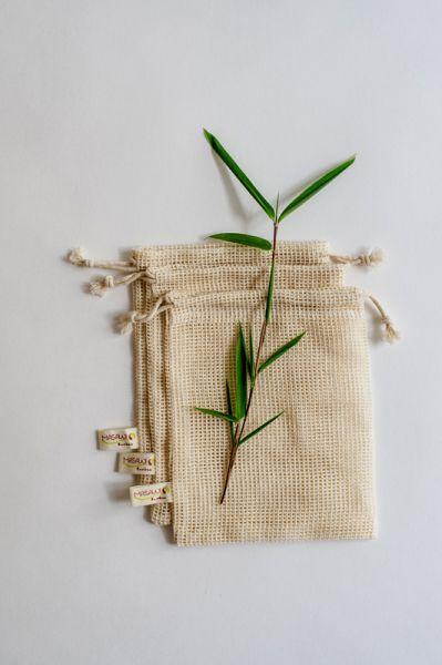 Baumwoll Waschnetze, Seifensäckchen
