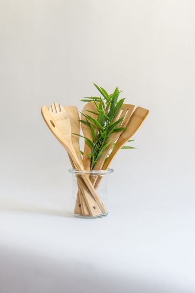 Bambus Küchenhelfer Kochlöffel-Set 6teilig