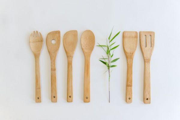 Bambus Kochlöffel-Set, 28 cm, 6teilig