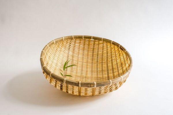 Bambus Reiskörbe, Küchensiebe, Gartenkörbe, 40cm handgefertigt in Vietnam