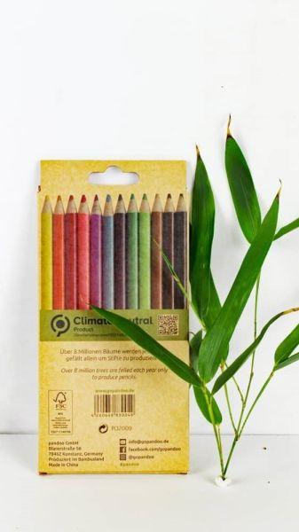 12 Buntstifte aus 100% recycelte Zeitschriften
