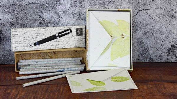 Elefanten-Dung-Papier Schreibset , nachhaltige Geschenkideen
