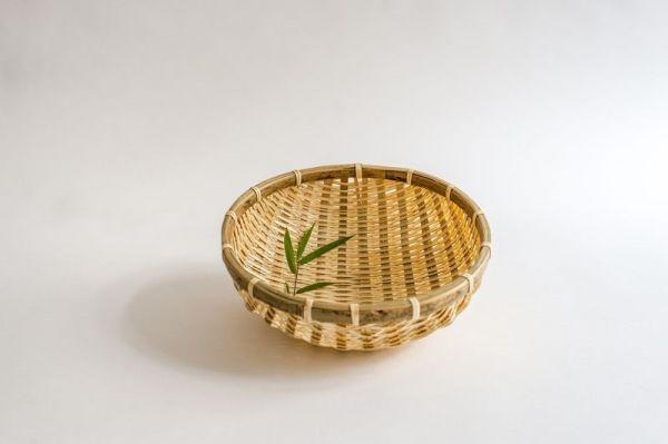 Bambus Reiskörbe, Küchensiebe, Gartenkörbe, 25cm handgefertigt in Vietnam